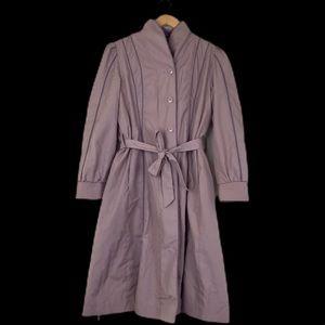 Vintage Fur Lined Trench Coat